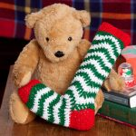 Holiday Ripple Stocking Free Crochet Pattern