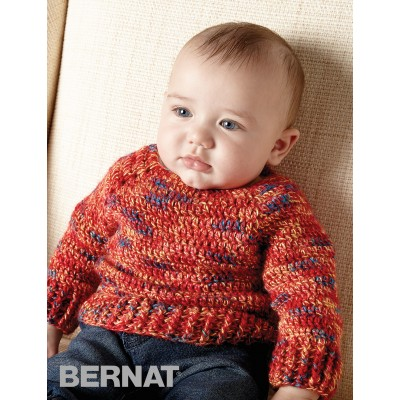 Hurry Down Pullover Free Easy Baby Crochet Pattern