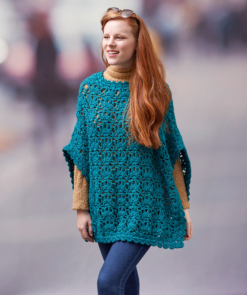 Let's Party Poncho Free Crochet Pattern