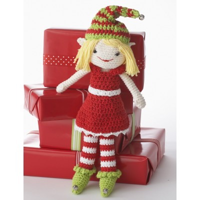 Lily the Christmas Elf Free Easy Child's Toy Crochet Pattern