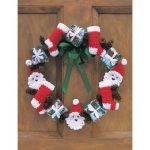 Merry Christmas Wreath Free Crochet Pattern