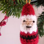 Mini Father Christmas Crochet ornament pattern