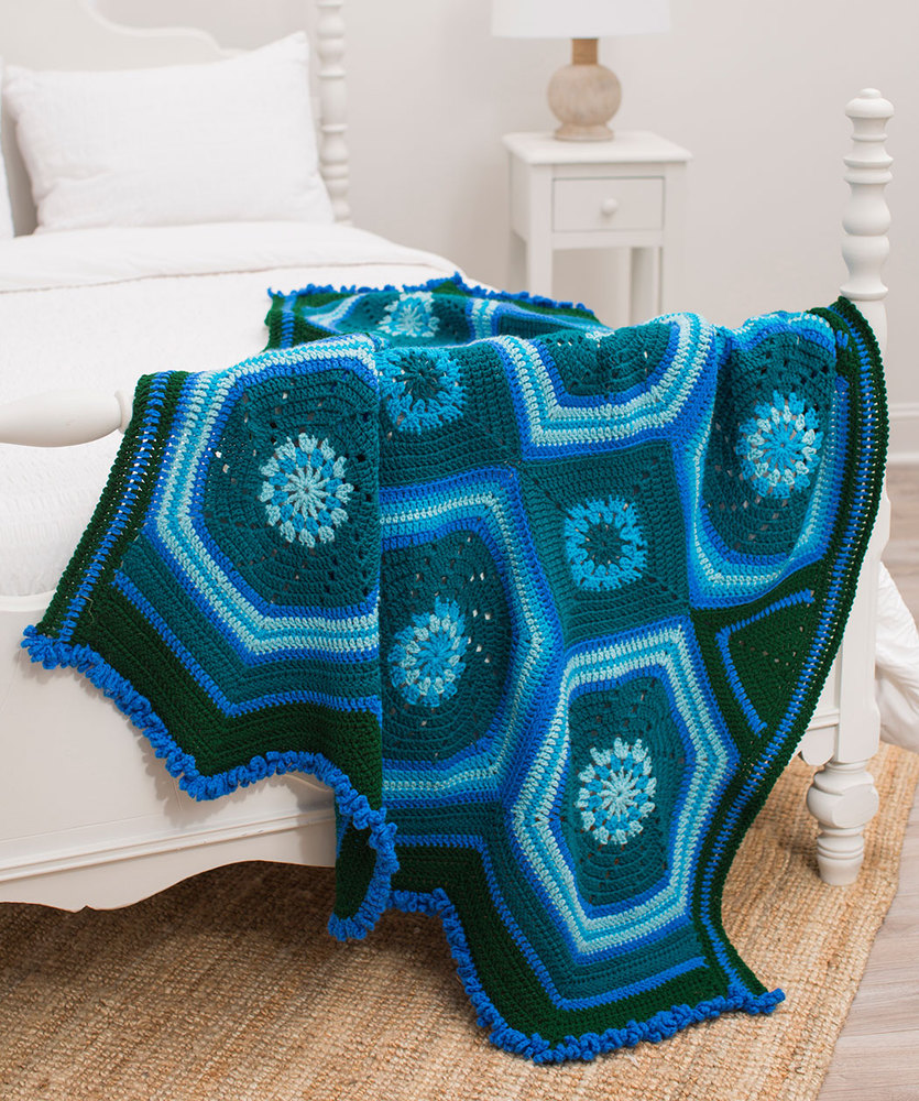 Moody Blues Throw free crochet pattern