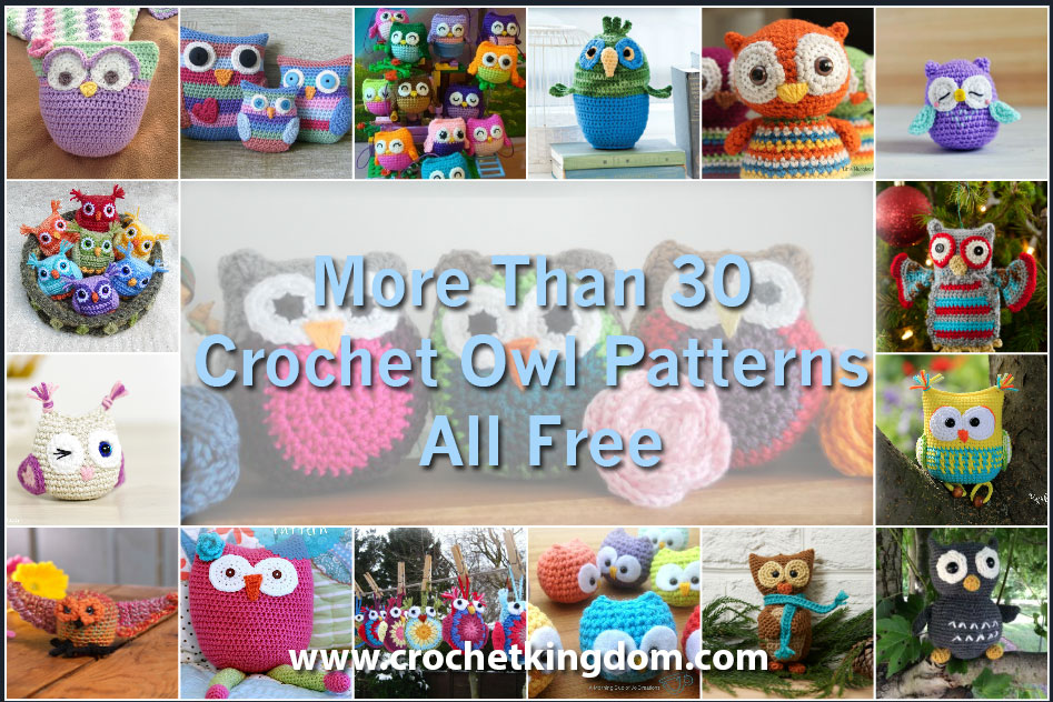 More Than 30 Crochet Owl Patterns All Free