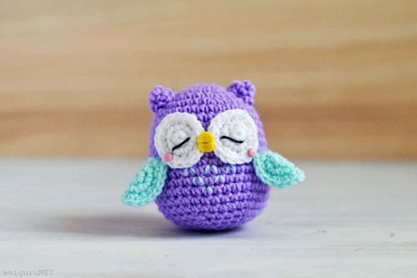 Mr. Murasaki Owl Amigurumi Free Crochet Pattern