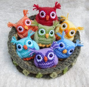 free rainbow crochet owl patterns
