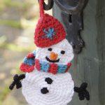 Olaf the Snowman Crochet Christmas Ornament Pattern