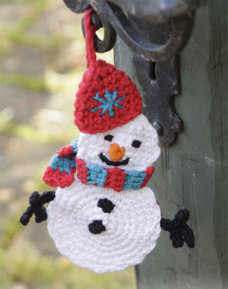 Olaf the Snowman Crochet Christmas Ornament Pattern