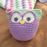 Owl Stuffie with Upcycled Rattle Pictorial Free Crochet Pattern
