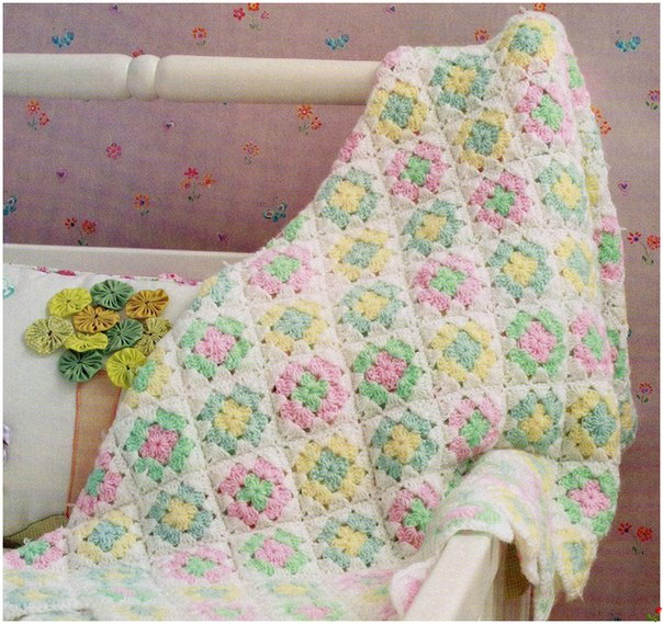 Free Crochet Pattern For Granny Square Baby Blanket : granny square baby blanket crochet pattern Archives ...