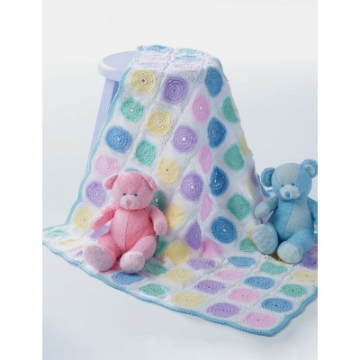 Patons Free Easy Baby's Blanket Crochet Pattern