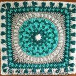 Peony Mandala Crochet Square Pattern