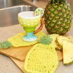Pineapple Scrubby Dishcloth Free Crochet Pattern