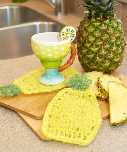 Pineapple Scrubby Dishcloth Free Crochet Pattern