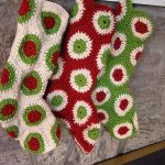 Polka Dot Free Christmas Stocking Crochet Pattern