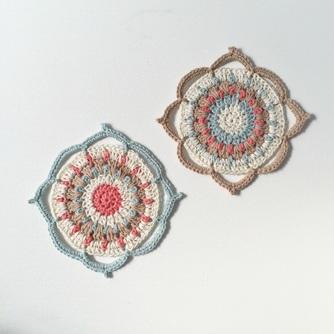 Quatrefoil Coasters Free Crochet Pattern