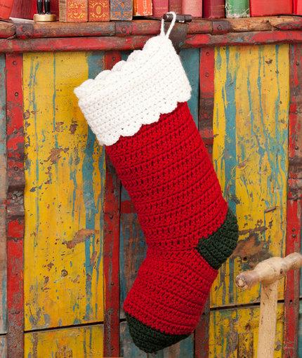 Quick Easy Stocking Free Christmas Crochet Pattern Crochet Kingdom