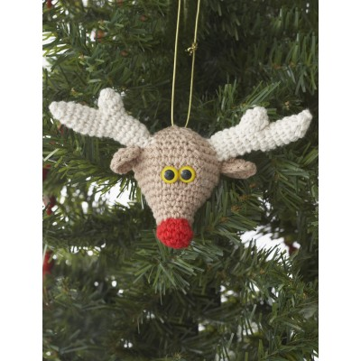 Reindeer Ornament Free Easy Home Decor Crochet Pattern