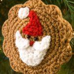 Santa Cookie Ornament Free Crochet Pattern