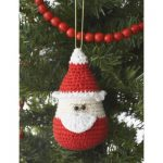 Santa Ornament Free Easy Home Decor Crochet Pattern