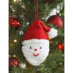 Santa's Head Free Easy Home Decor Crochet Pattern