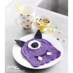 Scary Gary Crochet Dishcloth