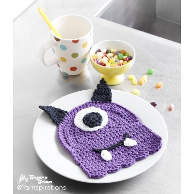 Scary Gary Crochet Dishcloth