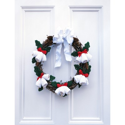 Seasons Greetings Wreath Free Crochet Pattern