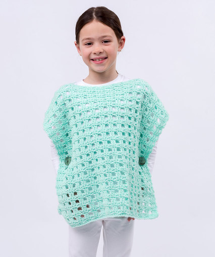 Simply Stated Child Poncho Free Crochet Pattern