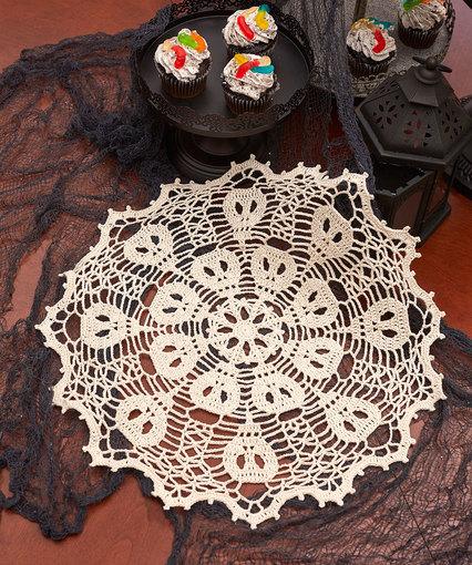 Skulduggery Doily free Halloween Crochet
