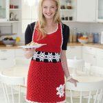 Snowflake Hostess Apron Free Crochet Pattern