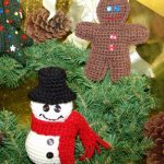 Snowman and gingerbread man crochet free pattern