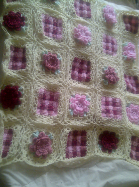 Stacy's Flower Squared Afghan