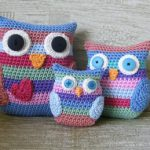 Stripy Owl Family Free Crochet Pattern