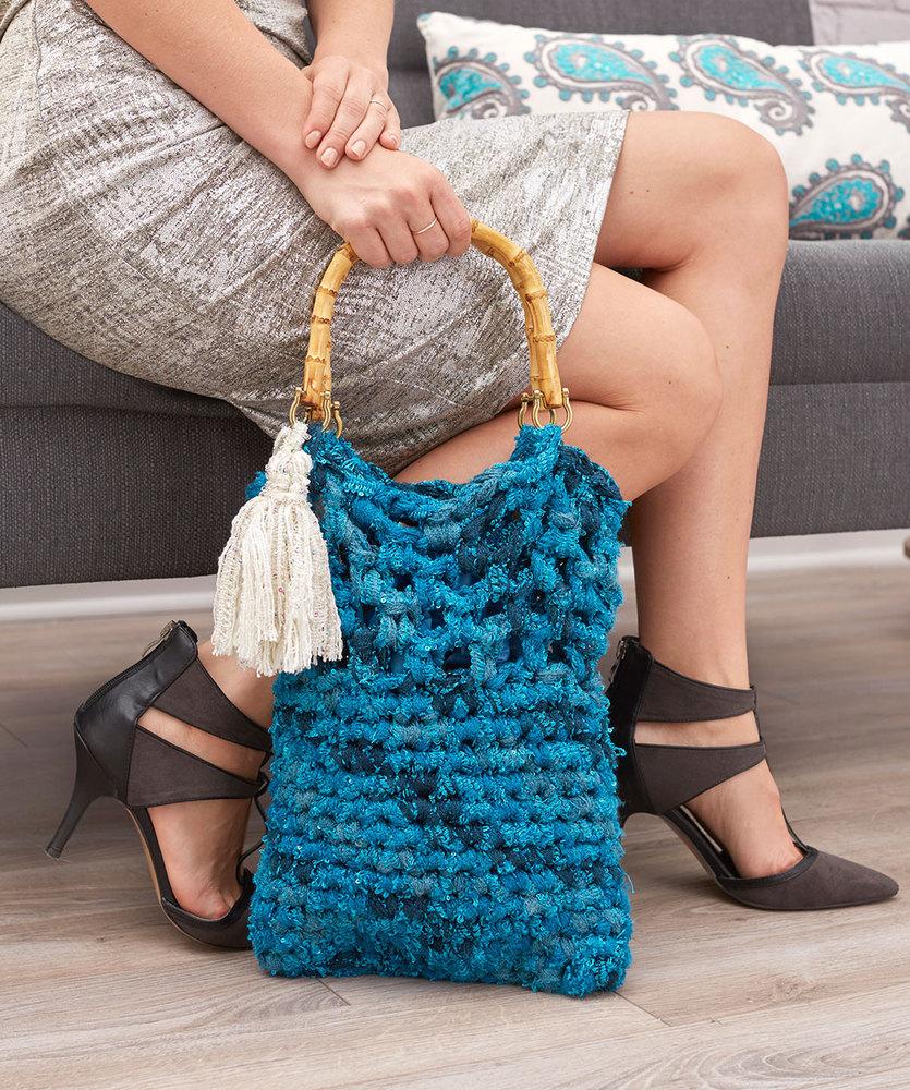 Tassel Tote Free Crochet Pattern