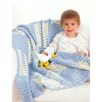 textured-squares-with-shell-border-crochet-baby-blanket