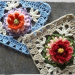 The Bloemfontein Rose Crochet Square Free Pattern