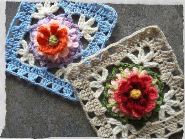 The Bloemfontein Rose Crochet Square Free Pattern Crochet Kingdom