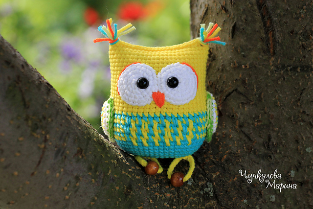 The Owl Rattle Toy Pattern Free Crochet