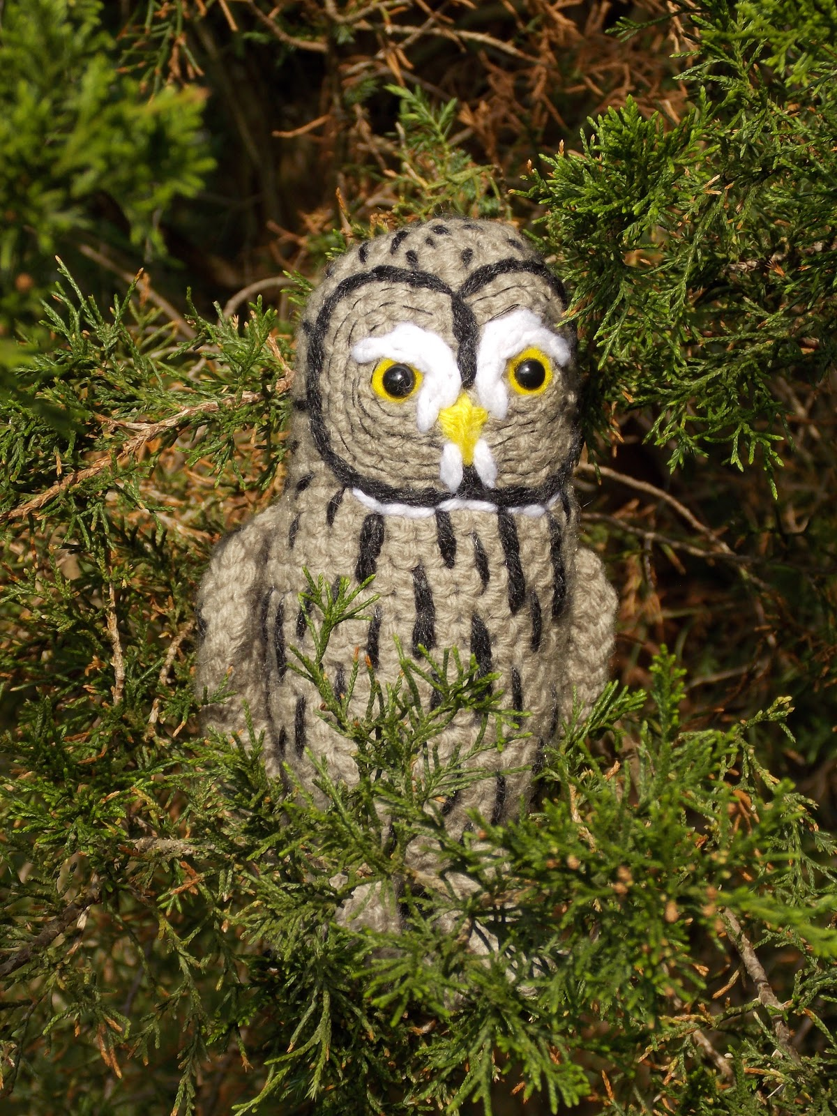 Twilight The Great Grey Owl Free Crochet Pattern ⋆ Crochet