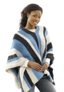 womens-vertical-striped-poncho-to-crochet