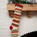 Zigzag Stocking Free Christmas Crochet Pattern