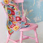Color pop crochet blanket flowers