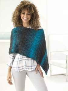 two ball poncho to crochet for free