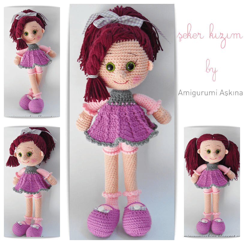 Amigurumi free candy doll pattern crochet kingdom crochet doll pattern dt1010fo
