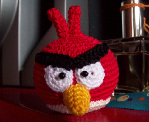 Red Angry Bird | Lanas y Ovillos | 410x500