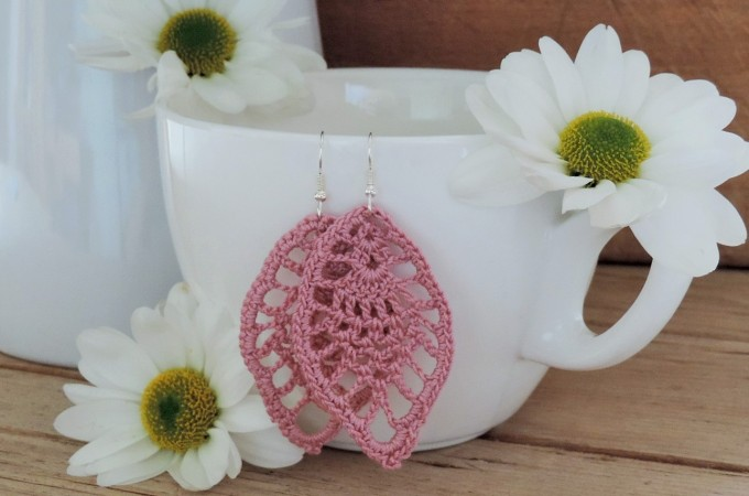 Autumn Leaves Crochet Earrings Free Pattern Crochet Kingdom