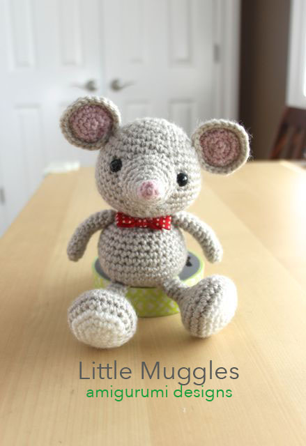 Crochet Mouse Bookmark Amigurumi Free Patterns | 640x439