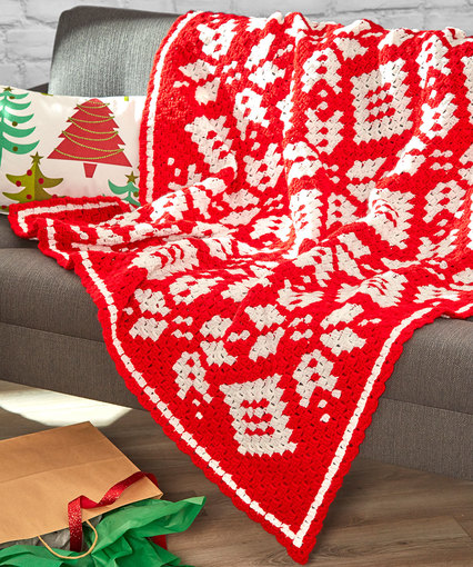Corner-to-Corner Snowflake Blanket Free Crochet Pattern