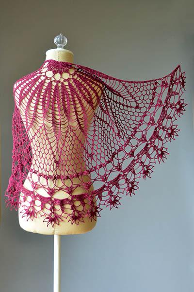 Corona Shawl Free Crochet Pattern ⋆ Crochet Kingdom